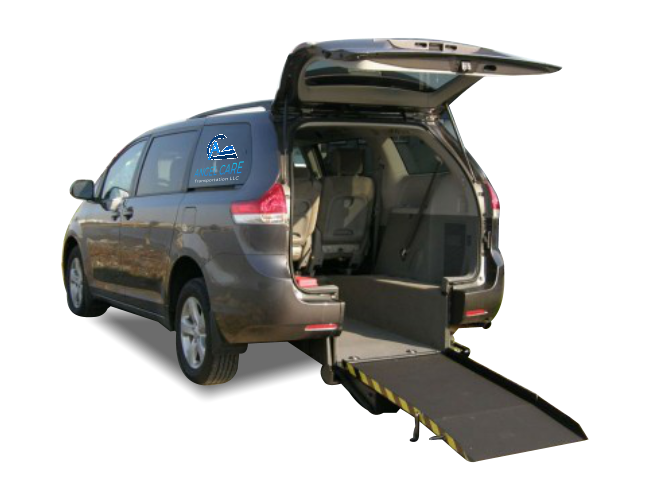 mini van with ramp on the back